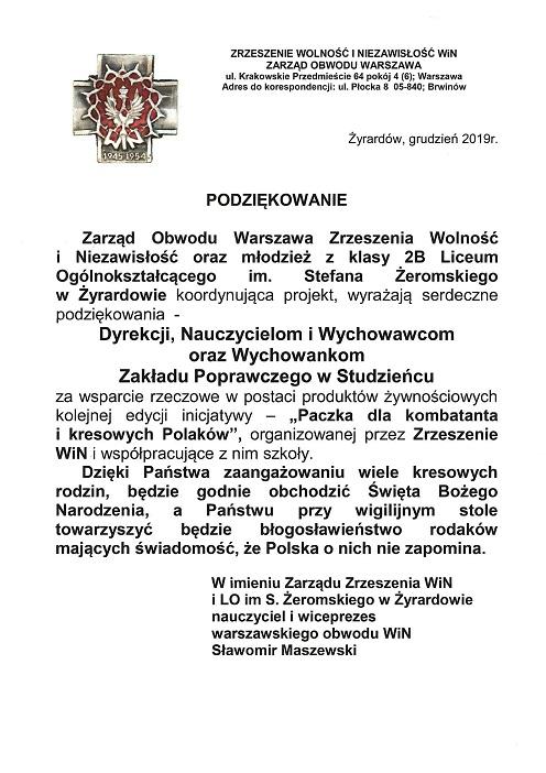 Razem na Święta oraz Paczka dla kombatanta i kresowych Polaków.