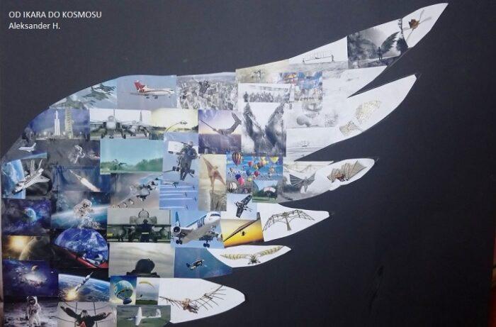 """Konkurs plastyczny pod hasłem """"Od Ikara do Kosmosu – marzenia o lataniu""""."""