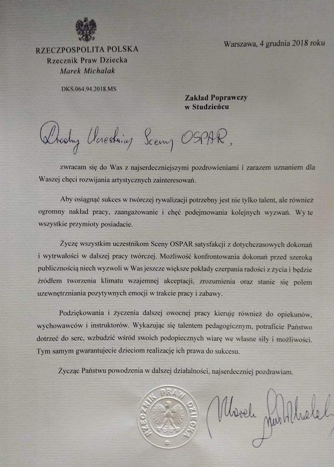 """Ogólnopolska Scena Prezentacji Artystycznych Realizacji - """"OSPAR 2018"""""""
