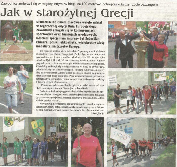 Dzień Grecki w Studzieńcu okiem lokalnych mediów